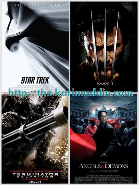 star trek, wolverine, terminator salvation, angels and demons