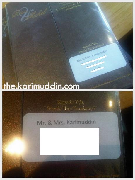 to : Mr. and Mrs. Karimuddin