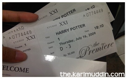 The Premiere Tickets of Harry Potter
