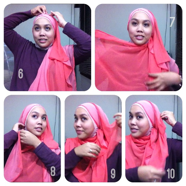 Two Tone Scarf Tutorial Part 2