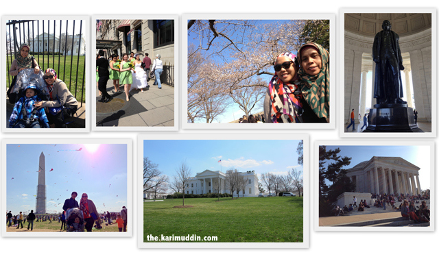 White House, Tidal Basin and Jefferson Memorial