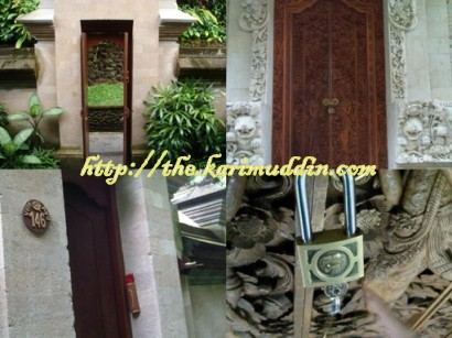 Pintu masuk Villa
