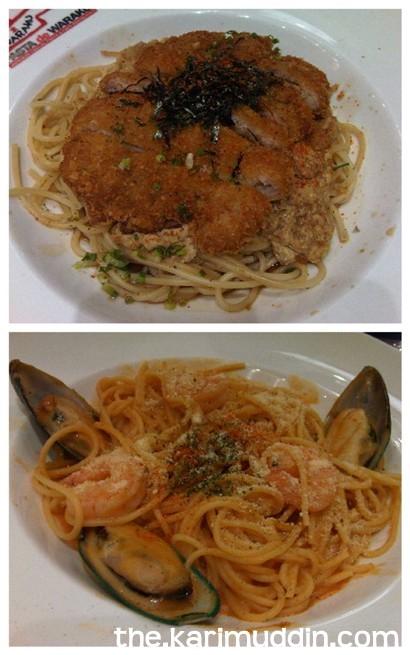 Wafu Chiken Tamatoji and Tom Cream Seafood