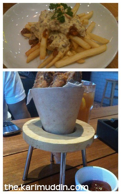 French Fries Chili Con Carne and Portuguese Chicken Wings