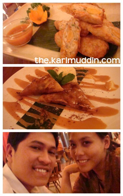 Lumpia Crab Mabuhay, Apel Keju Dapur Nyonya and the happy couple.. :D