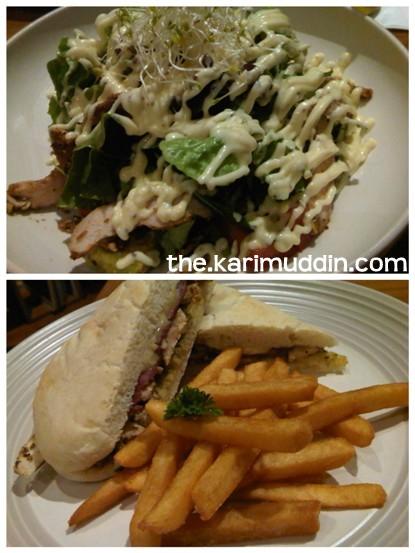 Chicken Avocado Salad, Chicken Surprise Sandwich