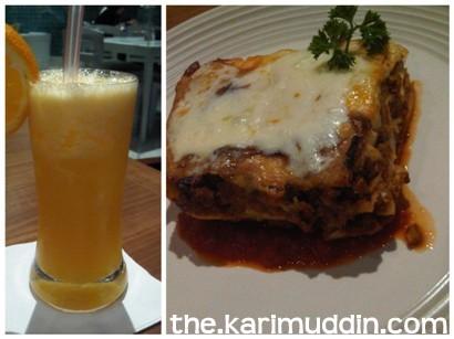Orang juice, Lasagna