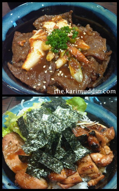Beef with Kimchi and Grilled Chicken with Sumiyaki