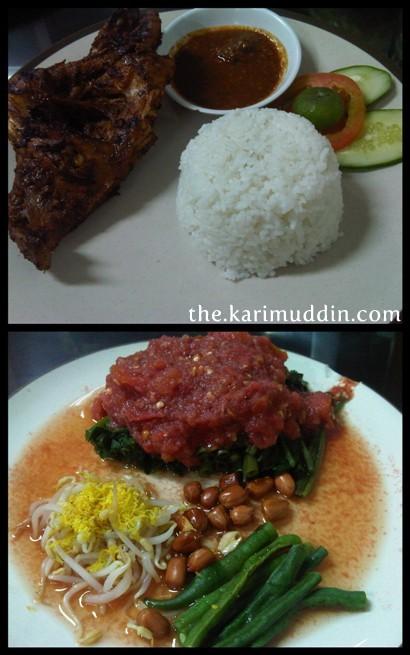 Ayam Bakar Taliwang dan Plecing Kangkung